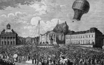 Le premier envol officiel de « montgolfière » en public