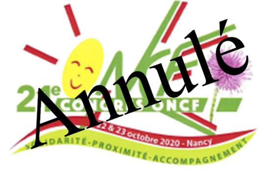 Annulation du 21e congrès de notre ONCF