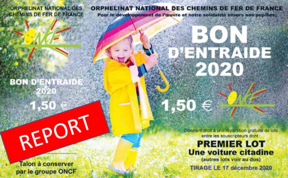 REPORT DU TIRAGE BE 2020                        AU 28 JANVIER 2021